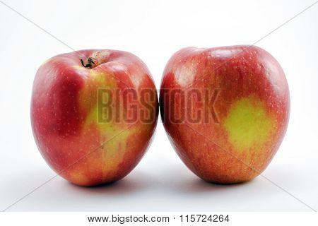 Pair of two fuji apples