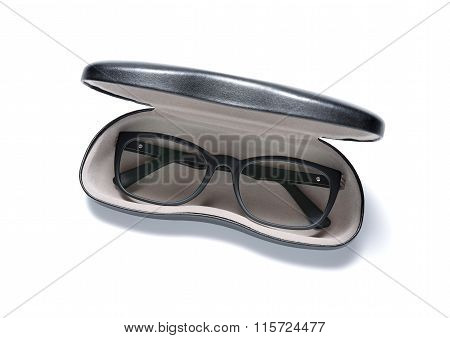 Eye glasses in a case