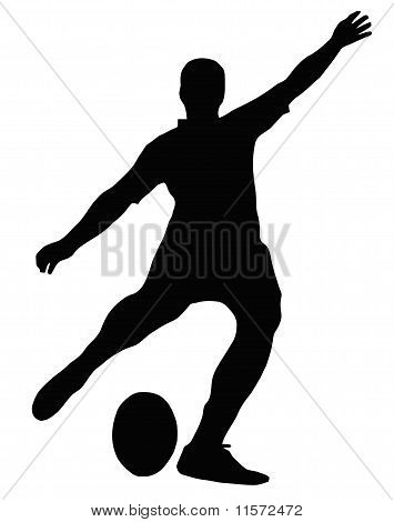 Sport Silhouette - Rugby Football Kicker