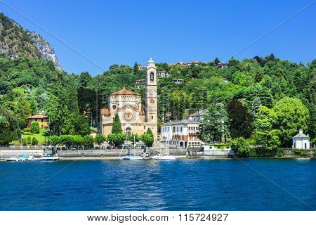 pictorial scenery of beautiful Lago di Como, Italy