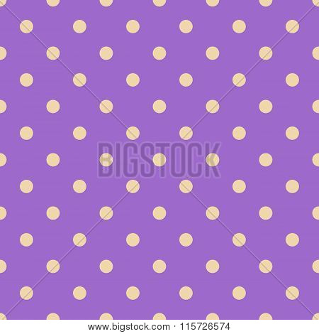Seamless Polka Dot Violet Pattern With Circles