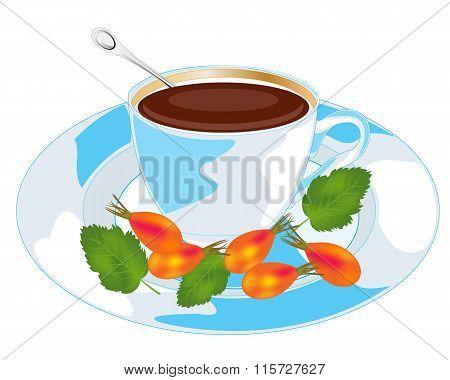 Tea with wild rose