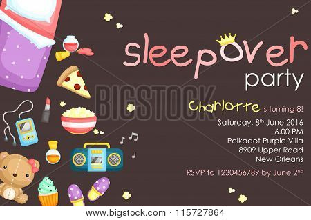 Sleepover Party Invitation