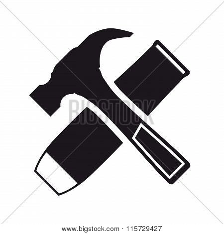 hammer and chisel