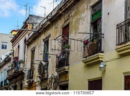 Slum Facade With Balconies