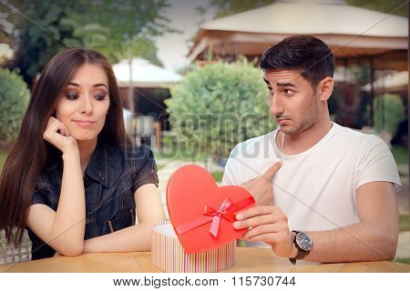 Girl Disappointed on Her Valentine Gift From Boyfriend