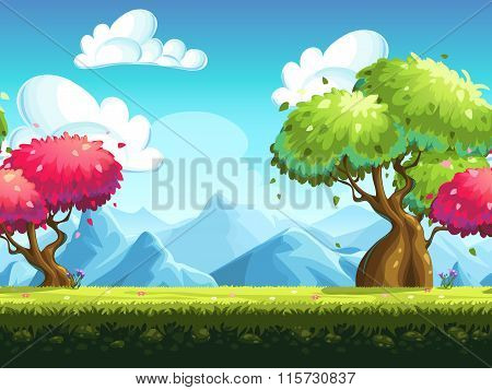 Seamless Background Colorful Trees