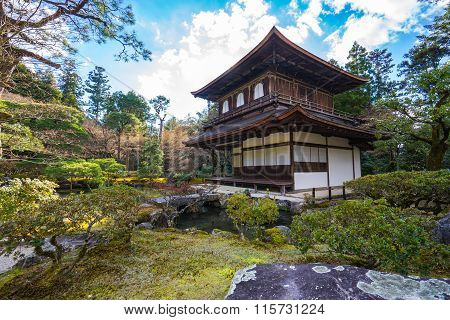 Ginkakuji Temple In Kyoto At Japan
