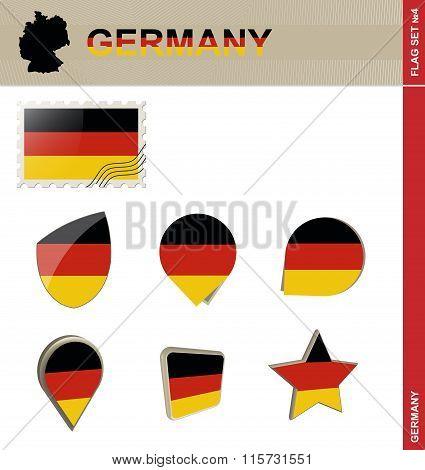 Germany Flag Set, Flag Set #4