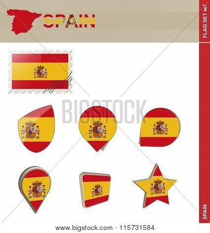 Spain Flag Set, Flag Set #7