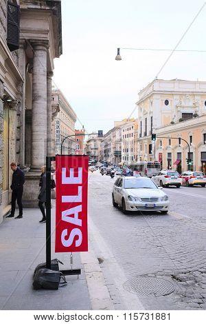 Roma, Italy, January, 16, 2016: the poster