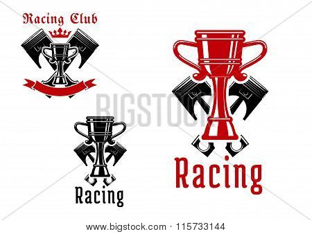 Racing sport club or competition icon design