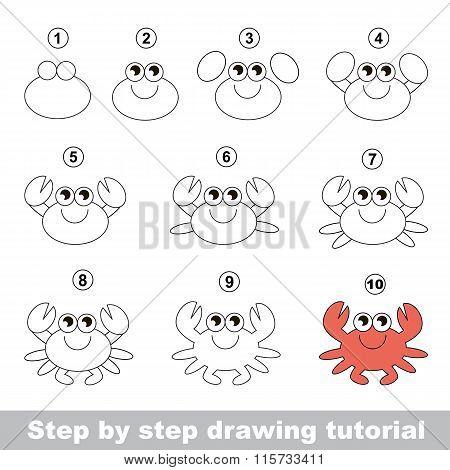 Crab. Drawing tutorial.
