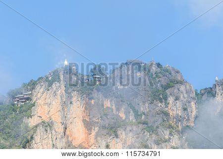 Pagoda On Cliff