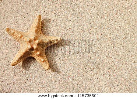 Star on sand