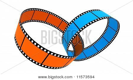 Two 3d blank films ring