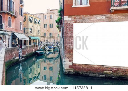 Blank Advertising Poster In Venice