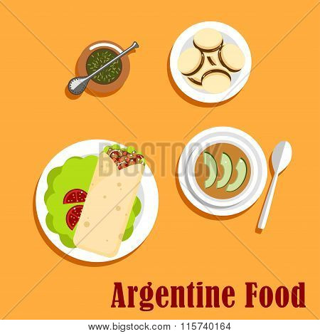 Argentine lunch and dessert food