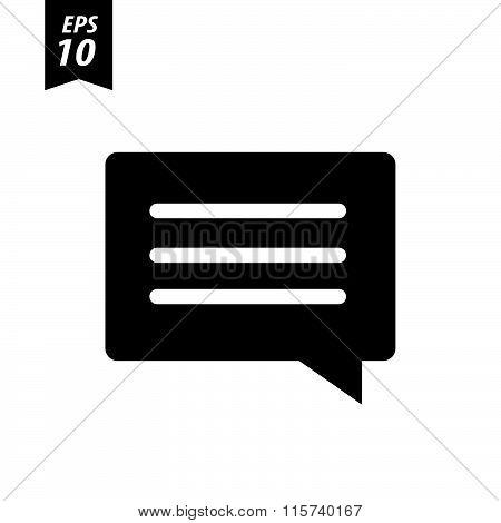 Speech Bubbles, Vector Icon