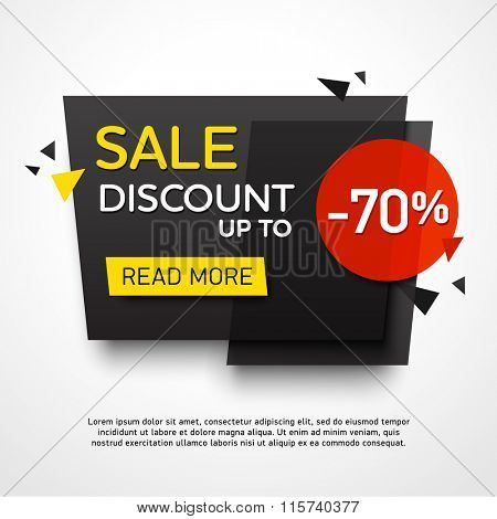 Ecommerce bright vector banner set. Nice plastic cards in material design style. Transparent black, white, red and yellow paper.