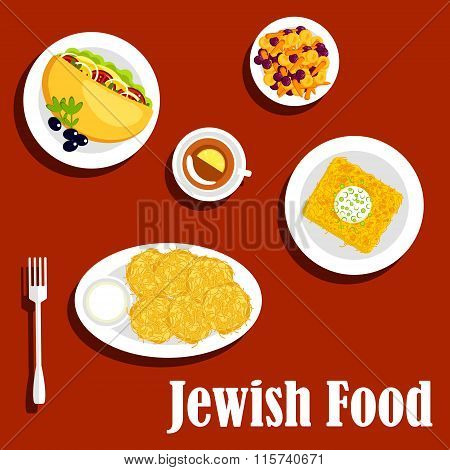 Jewish cuisine vegetarian dishes and pastry
