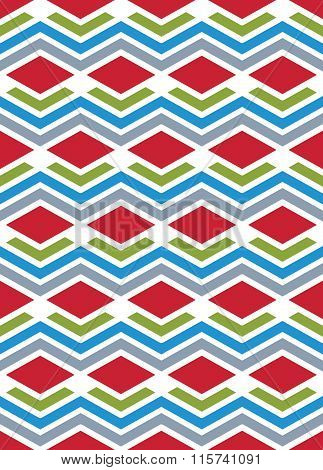 Bright Abstract Seamless Pattern With Interweave Lines. Vector Psychedelic backdrop With Stripes.