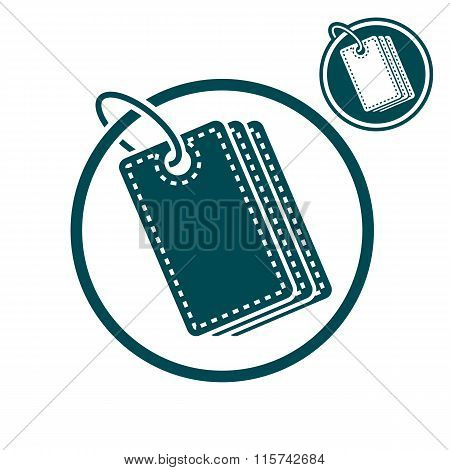 Tag Retail Theme Vector Simple Single Color Icon Isolated On White Background