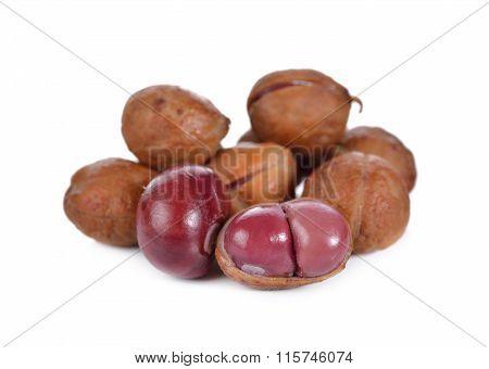 Pile Of Bambarra Groundnut On White Background