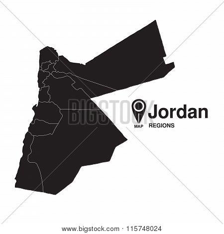 Regions Map Of Jordan