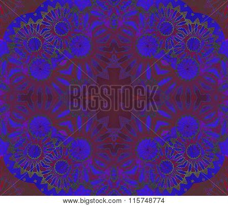 Seamless ornament violet purple