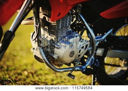The Motor Of Enduro Motorcycle