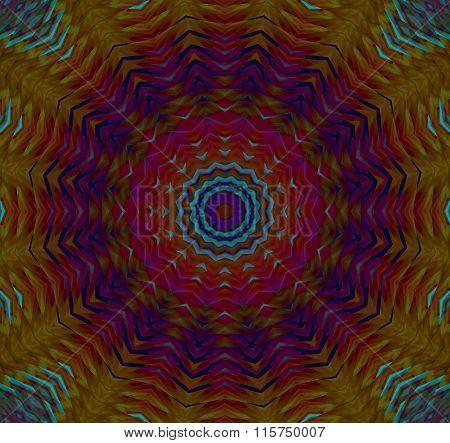 Seamless star pattern multicolored