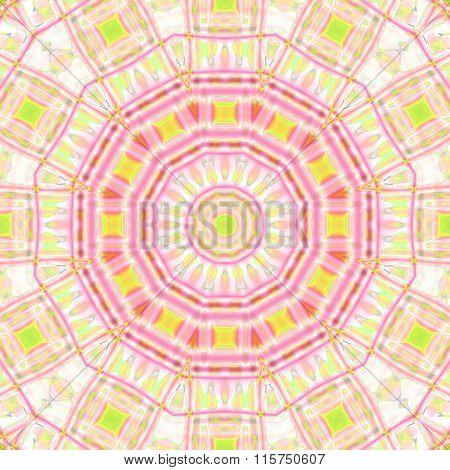 Seamless circle pattern violet yellow