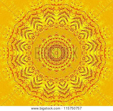Seamless star pattern yellow red