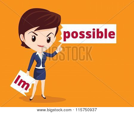 Business Woman Make Possible