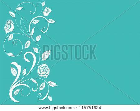 Ornamental shrub monogram vintage roses