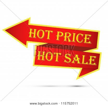 Hot Price And Hot Sale Labels. Vector.