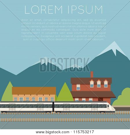 Suburban train banner