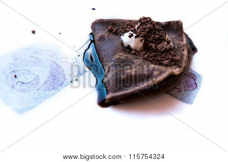 The excellente cocoa pancake with dark chocolate