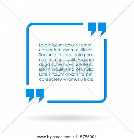 Blue quote text box