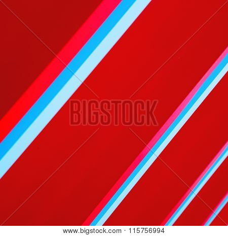 Blue Red Abstract Metal In England London Railing Steel And Background