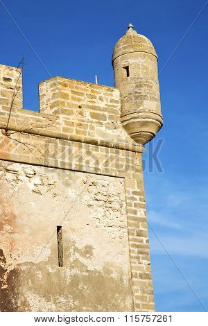 Brick In Old Construction  Africa Morocco And   The Tower Near Sky