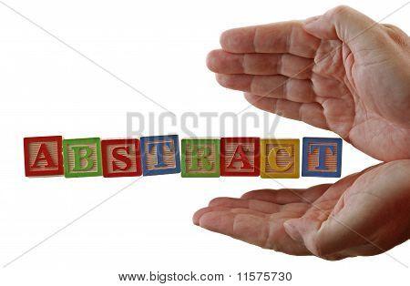 Abc abstrata bloqueia as mãos