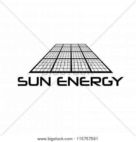Solar Cell Vector Design Template