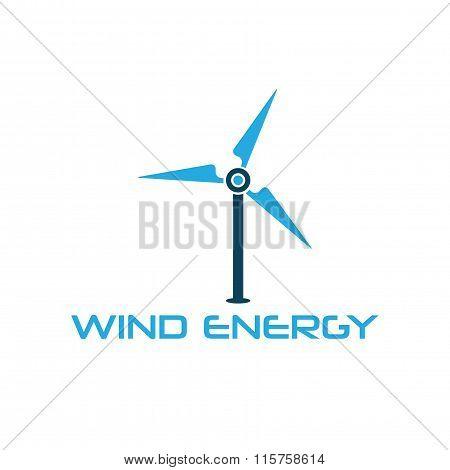 Wind Turbine Vector Design Template
