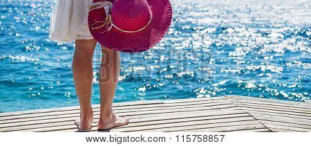 Woman at the sea