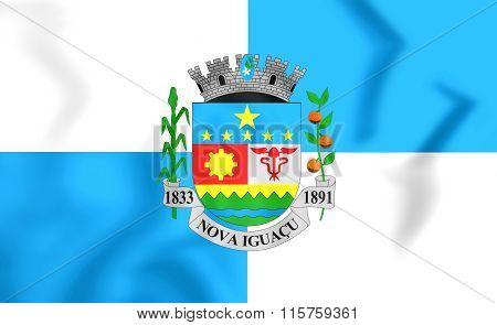 Flag Of Nova Iguacu (rio De Janeiro State), Brazil.