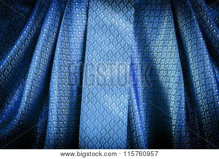 Blue Thai Pattern Textile