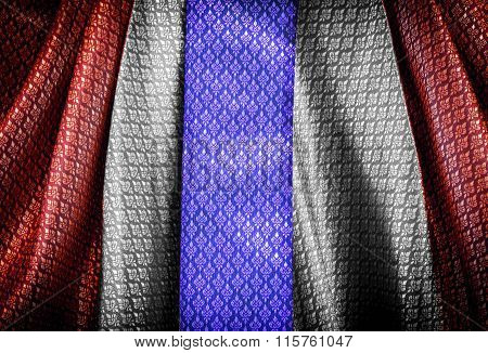 Thai Flag In  Pattern Textile