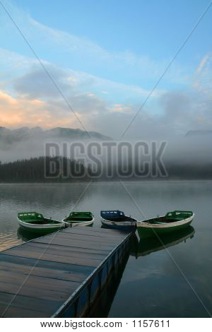 Boats - Lake - Morning